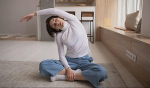 lady-at-home-yoga